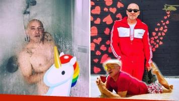 La bizarra foto hot de Ronnie Arias, desnudo dentro de la bañera:
