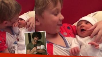 El video súper tierno del hijo de Mariano Martínez cantándole una canción de cuna a Alma