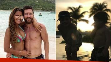 Los looks playeros de Lionel Messi y Antonela Roccuzzo en su paradisíaca luna de miel (Foto: Instagram)