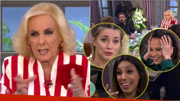 El susto en vivo de Mirtha Legrand y sus invitados. Foto: Captura