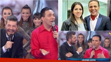 Cristian Castro cantó en ShowMatch y habló de su brevísimo matrimonio de 28 días