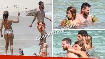 Las fotos de la luna de miel de Lionel Messi y Antonela Roccuzzo: guerra de arena, mimos y tragos en el mar