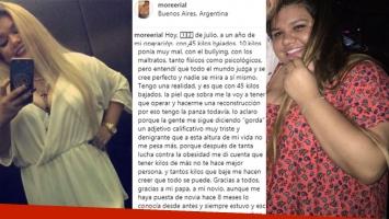 El mensaje de Morena Rial a un año de realizarse un bypass gástrico