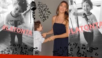 El tierno video del hijo de Jimena Barón, cantando y bailando