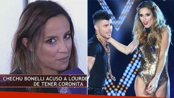 Lourdes Sánchez, enojada con Chechu Bonelli