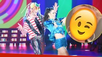 El saludo de Xuxa a Jey Mammon en Bailando 2017 (Fotos: Prensa Ideas del Sur y Captura)