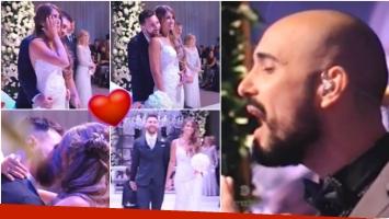 El emotivo momento del casamiento de Leo Messi y Antonela Roccuzzo (Fotos: Captura)