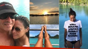 Julieta Ortega, con su nuevo novio en la Polinesia Francesa (Foto: Instagram)