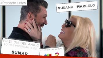 Marcelo Tinelli y Susana Giménez, juntos en un bello institucional por el Día del Amigo