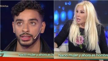 Las incómodas preguntas de Susana Giménez a Laith Ashley, un famoso modelo trans. Foto: Captura