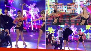 Flor Marcasoli terminó haciéndo un topless en la salsa de a tres del Bailando