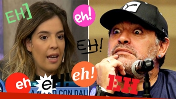Dalma explicó el motivo del balbuceo de Diego Maradona