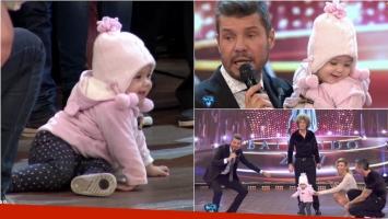 Roma, la hija de Rocío Guirao y Nicolás Paladini enterneció a todos en el piso de ShowMatch