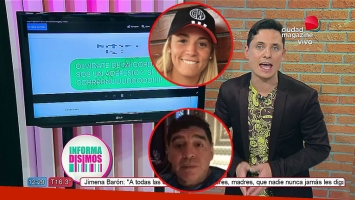 Lio Pecoraro mostró el fuerte mensaje que Rocío Oliva le habría mandado a Diego Maradona