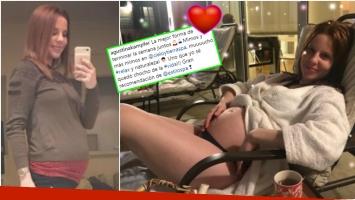 La tierna foto de Agustina Kámpfer luciendo su pancita de 6 meses y medio en un spa (Fotos: Instagram)