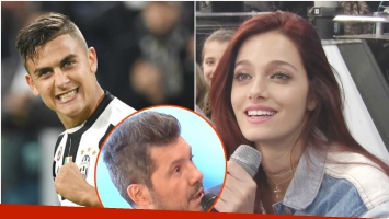 Mirá qué contestó Oriana Sabatini cuando Tinelli reveló que Paulo Dybala fue a verla al teatro (Fotos: Web y Captura)