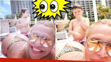 La advertencia del hijo de Nazarena Vélez ante la posibilidad de que consiga nuevo novio (Fotos: Instagram)