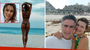 Pía Slapka, madre y diosa de vacaciones familiares en Cancún. (Foto; Instagram)