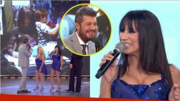 Marixa Balli regresó al Bailando y Tinelli se divirtió con su previa. Foto: Captura