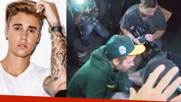 Justin Bieber atropelló accidentalmente a un fotógrafo.