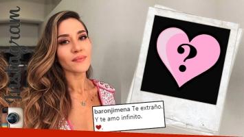 Jimena Barón publicó una tierna foto de su intimidad junto a Juan Martín del Potro