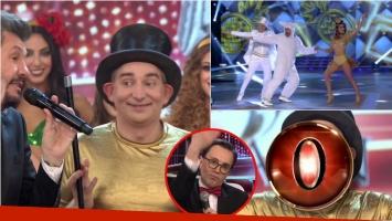 El Mago sin Dientes bailó la salsa de a tres en ShowMatch y terminó con un cero de Marcelo Polino. Foto: Captura