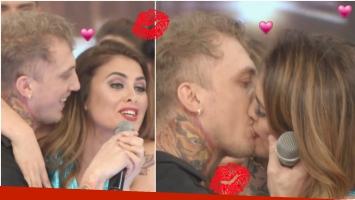 El beso de El Polaco y Silvina Luna en Bailando 2017 (Fotos: Captura)
