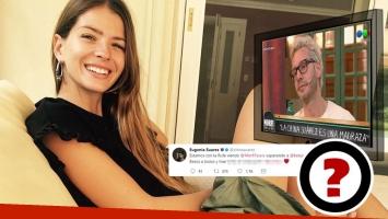 El tweet de la China Suárez en plena nota de Benjamín Vicuña en TV