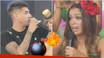 ¿Rocío Robles y Tyago Griffo se separaron en el vivo de ShowMatch? (Fotos: Captura)