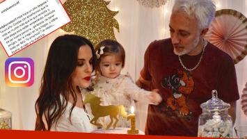Andy Kusnetzoff festejó el primer cumpleaños de Helena, su hija. (Foto: Instagram)