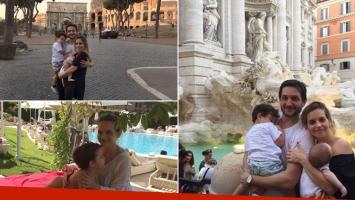 Sabrina Garciarena y Germán Paoloski, de vacaciones con sus hijos en Italia (Foto: Instagram)