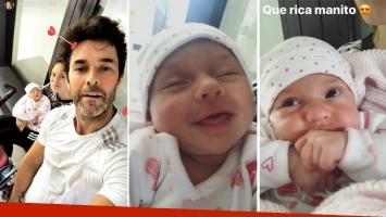 Los videos más tiernos de Mariano Martínez y Camila Cavallo junto a su bebita
