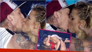 El tremendo beso del Polaco con su bailarina Solange Báez en el regaettón de ShowMatch