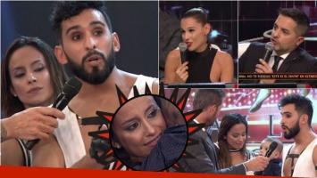 Lourdes Sánchez y Gabo Usandivaras se cruzaron con el jurado de ShowMatch y ella terminó llorando