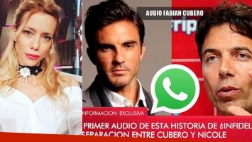Ángel de Brito mostró uno comprometedor audio de Fabián Cubero