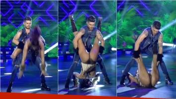 El truco fallido de Gastón Soffritti en el reggaetón que terminó con una caída de su novia. Foto: Captura