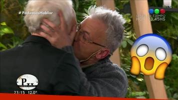 ¡¿Qué pasó?! Gerardo Romano le rompió la boca de un beso a Andy Kusnetzoff
