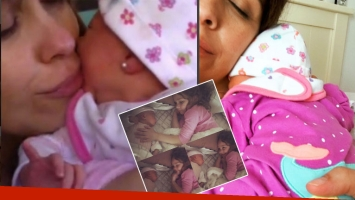 Josefina Pouso, junto a su hija recién nacida (Foto: Instagram)