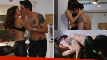 La escena hot de Celeste Cid y Esteban Lamothe en Las Estrellas. Foto: Captura