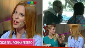 Agustina Kämpfer habló sobre Jorge Rial y su nueva novia, Romina Pereiro. Foto: Captura/El Intransigente
