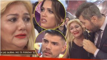 El llanto de Gladys La Bomba Tucumana tras cruzarse con Rocío Robles en ShowMatch (Fotos: Captura)
