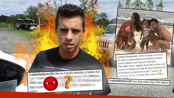 Picante respuesta de Dedeferico, tras las críticas de los seguidores de Cinthia Fernández
