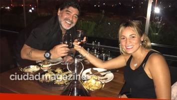 Diego Maradona y Rocío Oliva, cena romántica y convivencia en Dubai