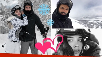 Joaquín Furriel y Eva de Dominici, días de amor y esquí en San Martín de los Andes
