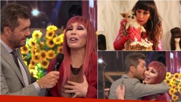 Moria Casán se emocionó en ShowMatch al hablar de la muerte de Kristobal, su perro