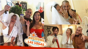 Ayelén Paleo se casó su novio Toto de Luca en Las Vegas. Foto: Instagram