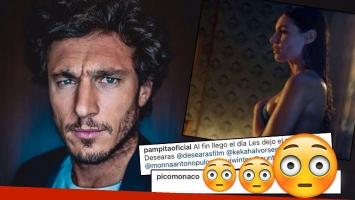 La reacción de Pico Mónaco al ver el trailer de la película hot de Pampita