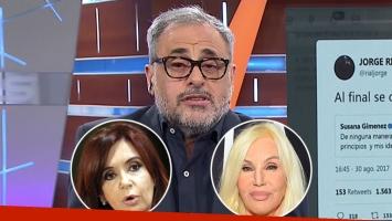 Jorge Rial explicó por qué se frustró la entrevista de Susana a Cristina: