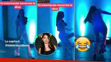 El divertido blooper de Eva de Dominici