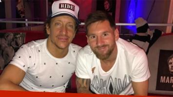 La felicidad de Nico Vázquez por la visita de Messi a su restobar